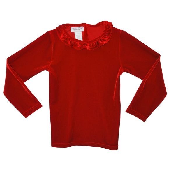 Red Velaur Shirt
