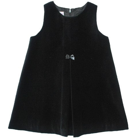 Simi Black Velveteen Pleated Jumper