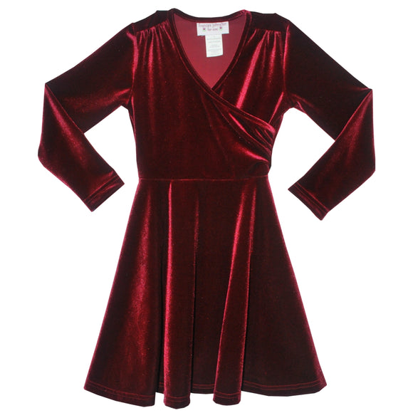 Burgundy Wrap Swing Dress