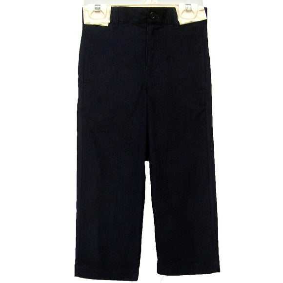 Black Corduroy Structured Pants