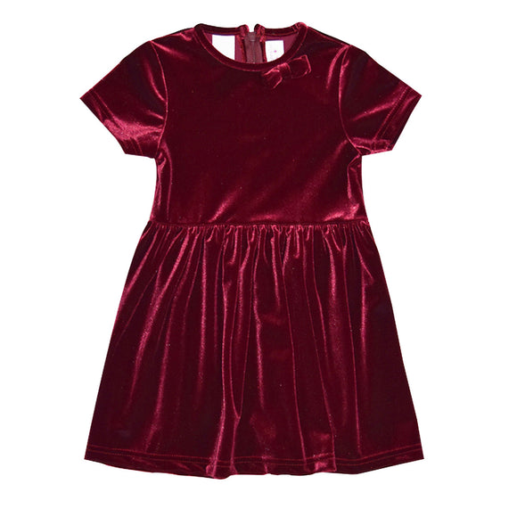 Stretch Velvet Burgundy Dress