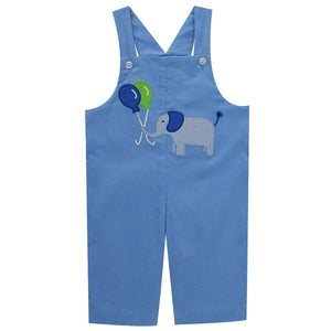 Elephant and Balloons Applique Corduroy Boys Overall