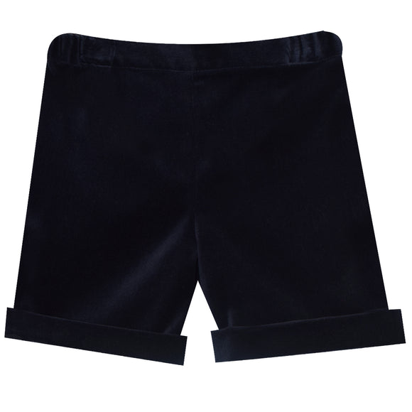 Simi Navy Velveteen Pull on Short