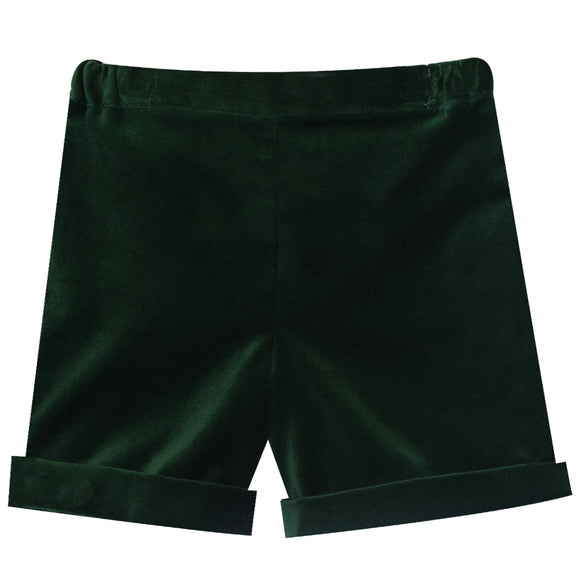Simi Lush Velveteen Green Pull On Short