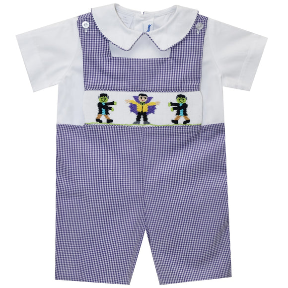 Wizard Smocked Boys Shortall and Shirt