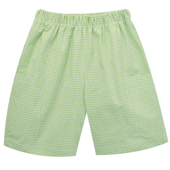 Green Check Seer Boys Cargo Short