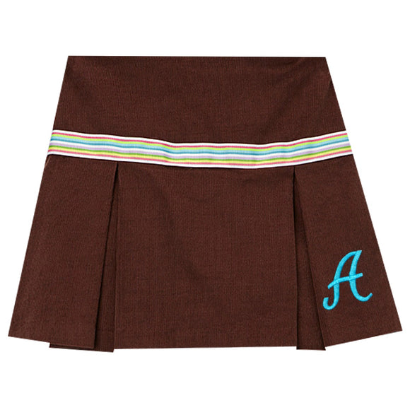 Brown Corduroy Skort