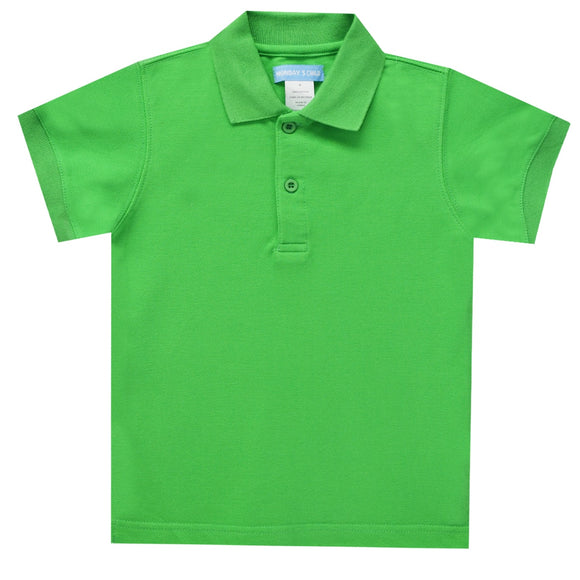 Kelly Green Polo Box Shirt Short Sleeve