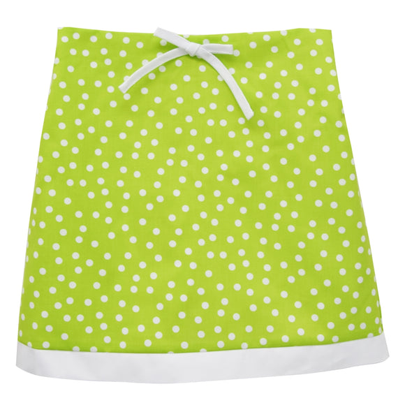 Lime Green Dots Skort