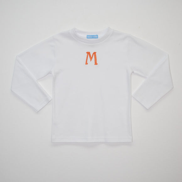White-Orange Tee Shirt