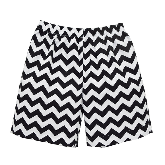Black Chevron Boys Pull on Short