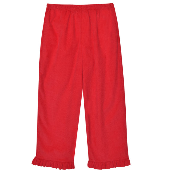 Red Corduroy Girls Pant