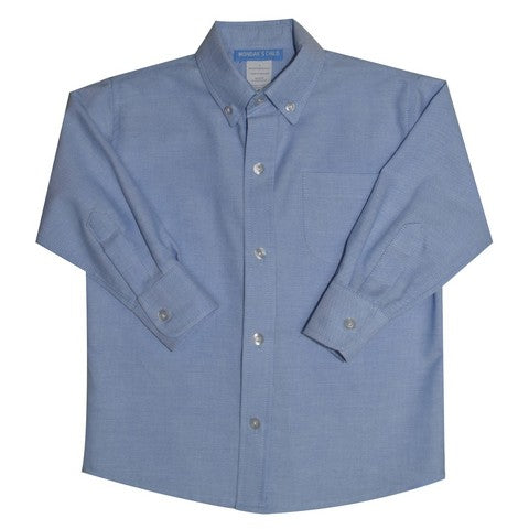 Blue Oxford Button Down Shirt Long Sleeve