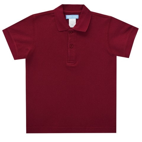 Burgundy Polo Box Shirt Short Sleeve