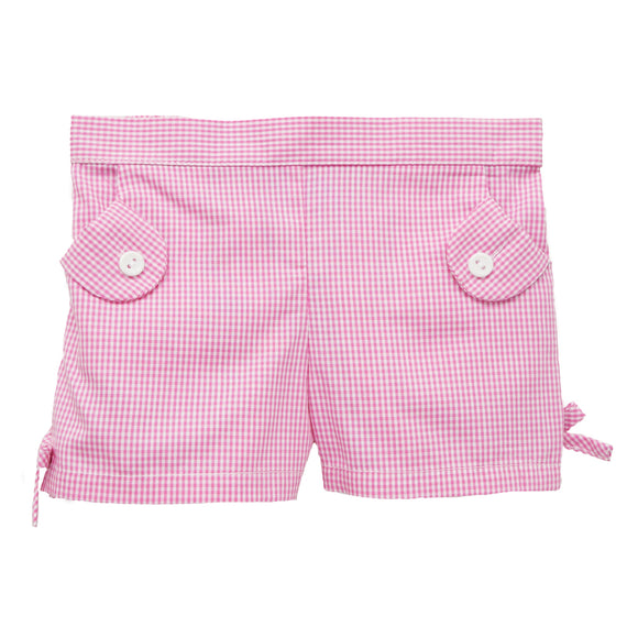 Pink Check Girls Short