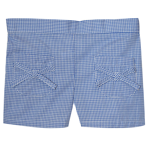 Royal Check Girls Short With Pockets