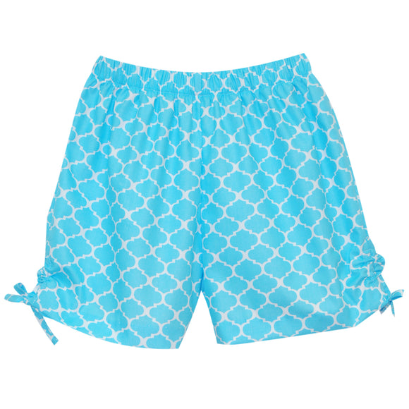 Aqua Print Girls Short