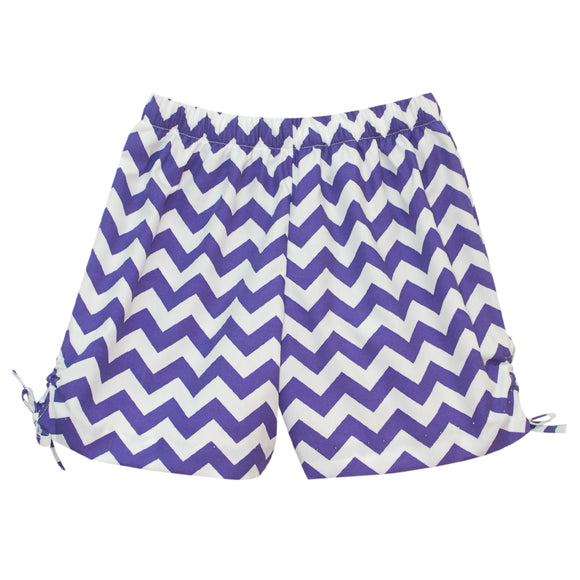 Purple Chevron Girls Short