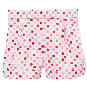 Pink and Red Dots Girls Short