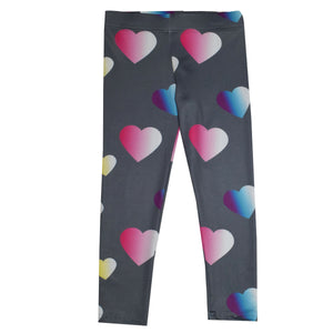 Hearts Colors Gray Leggings
