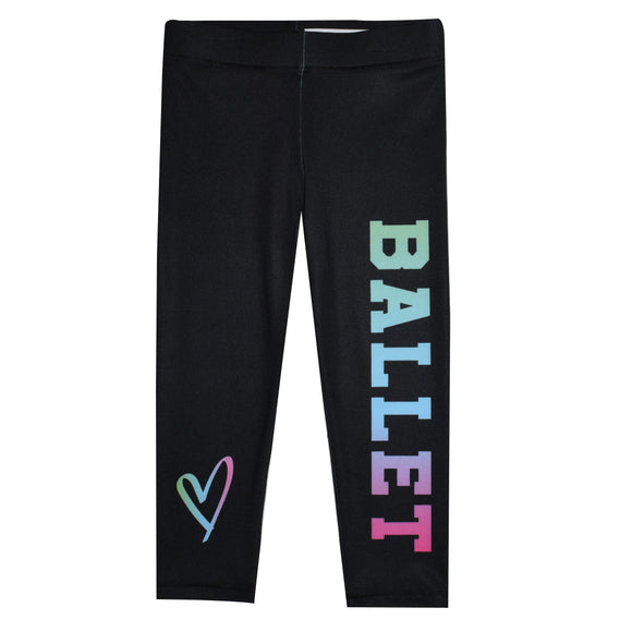 Ballet and Heart Black Capri Leggings