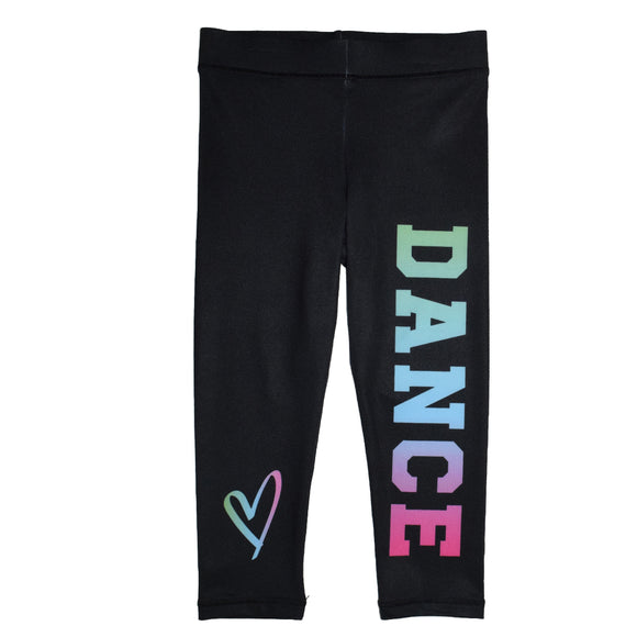 Dance and Heart Black Capri Leggings