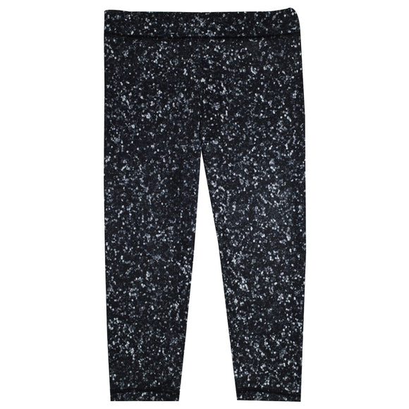 Glitter Black Capri Leggings