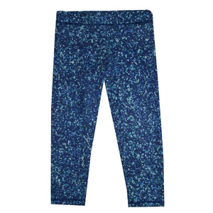 Glitter Navy Capri Leggings
