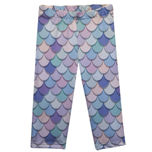 Mermaid Pink Capri Leggings