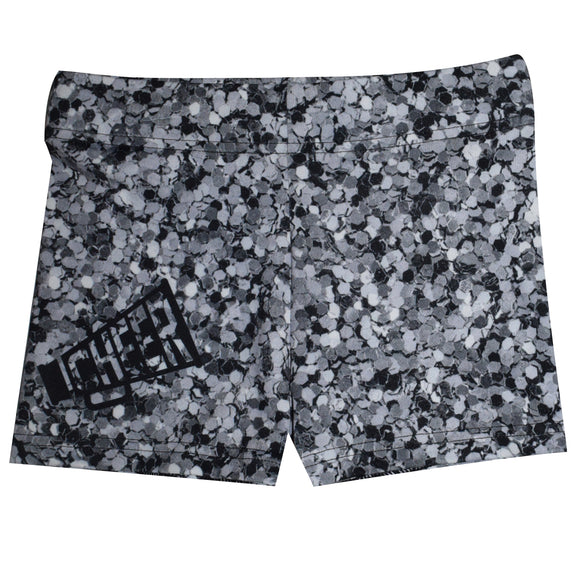 Gray Glitter Cheer Shorties