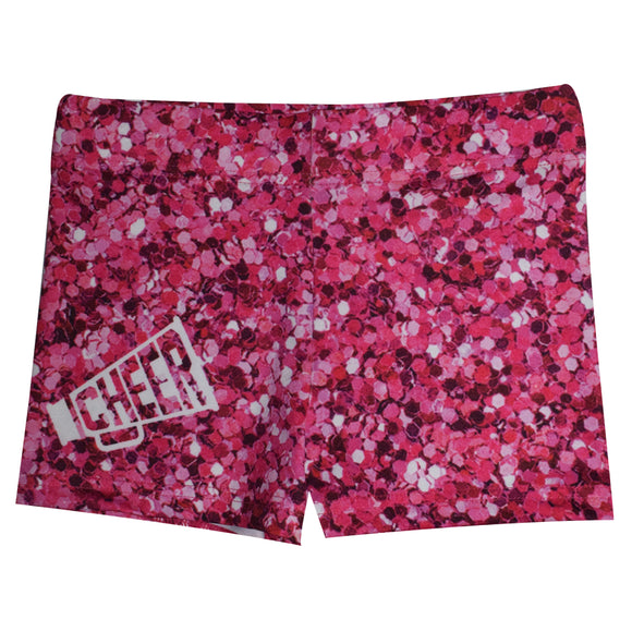 Hot Pink Glitter Cheer Shorties