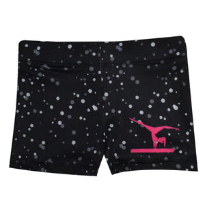 Polka Dot Silhouette Gymnast Shorties