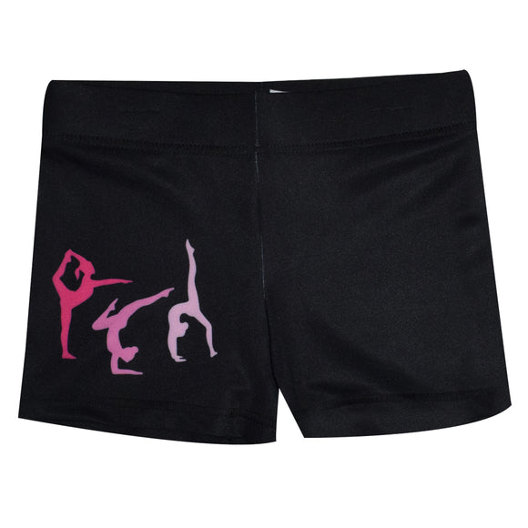 Gymnastics Silhouette Black Shorties
