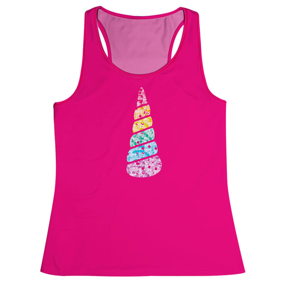 Unicorn Hot Pink Girls Tank Top