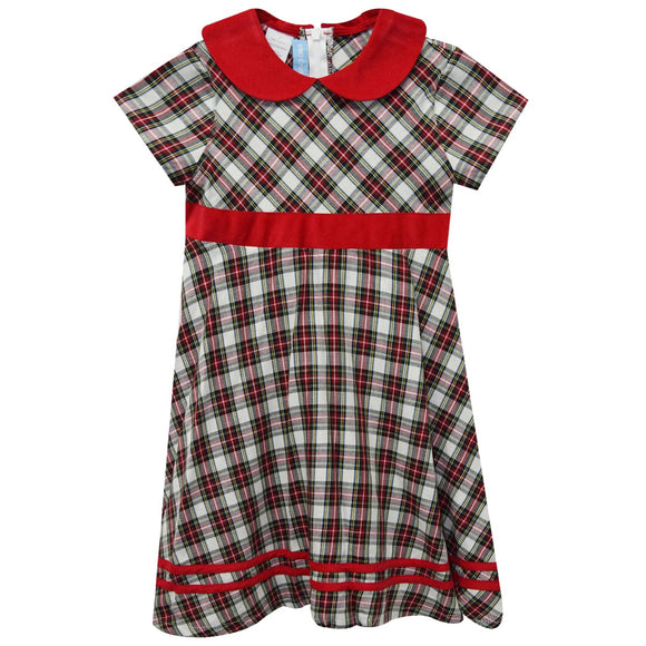 Red Plaid Circle Dress