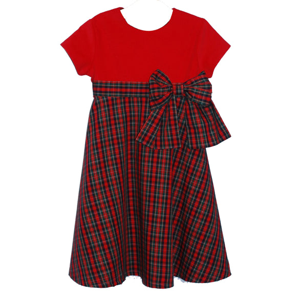 Xmas Plaid Circle Dress