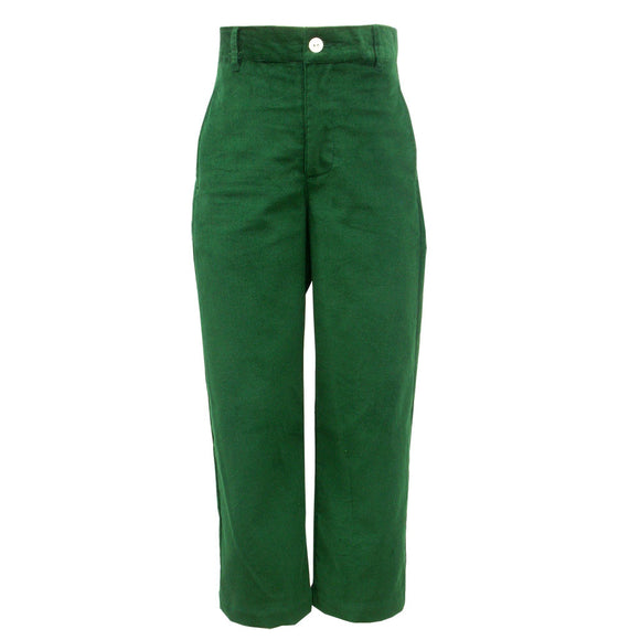Green Cord Structured Pants
