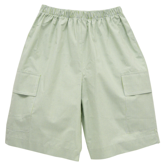 Green Check Cargo Short