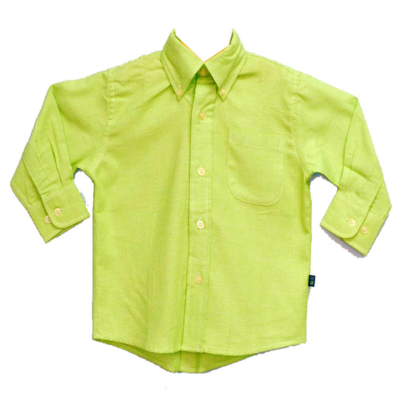 Lime Green Button Down Shirt