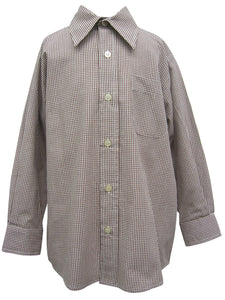 Brown Check Button Down Shirt