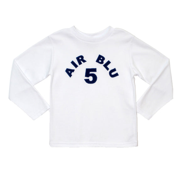Air Blue 5 Applique T-shirt