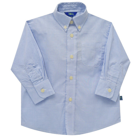 Light Blue Micro Check Shirt