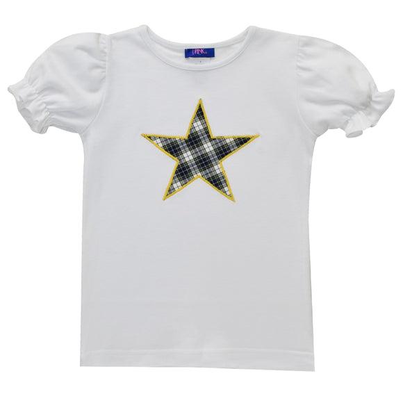 Star Applique Girls Tee Shirt