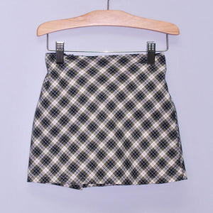Navy Plaid Skort