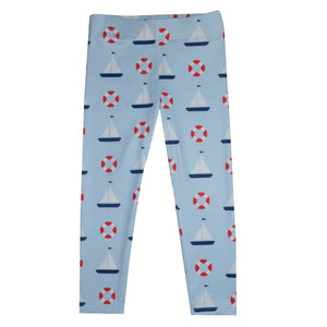 Float And Sailboat Light Blue Leggings