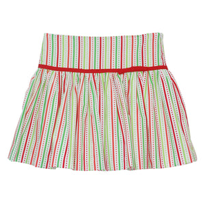 Red and Green Stripe Skirt