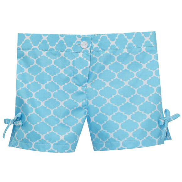 Turquoise Print Short