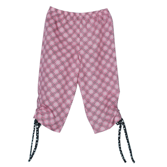 Pink and Black Plaid Capri Pant