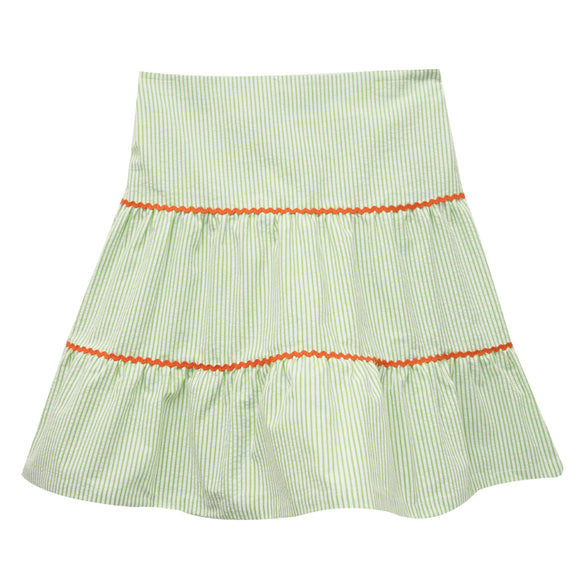 Green Stripe Peasant Skirt