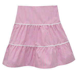 Hot Pink Stripe Peasant Skirt